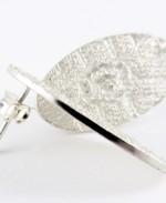 pendientes de plata con textura roq martalonso
