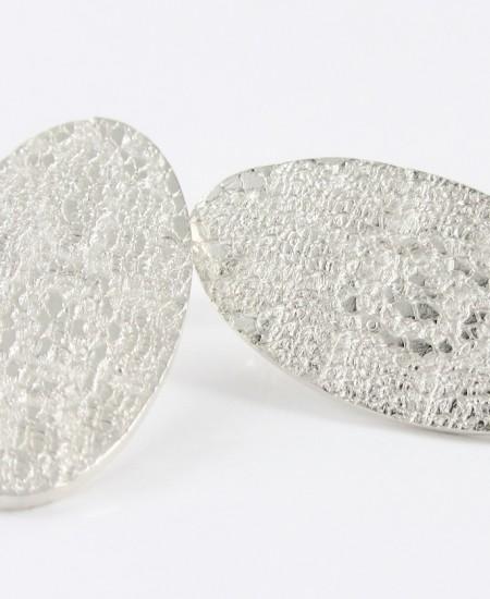 pendientes de plata originales con textura roq martalonso