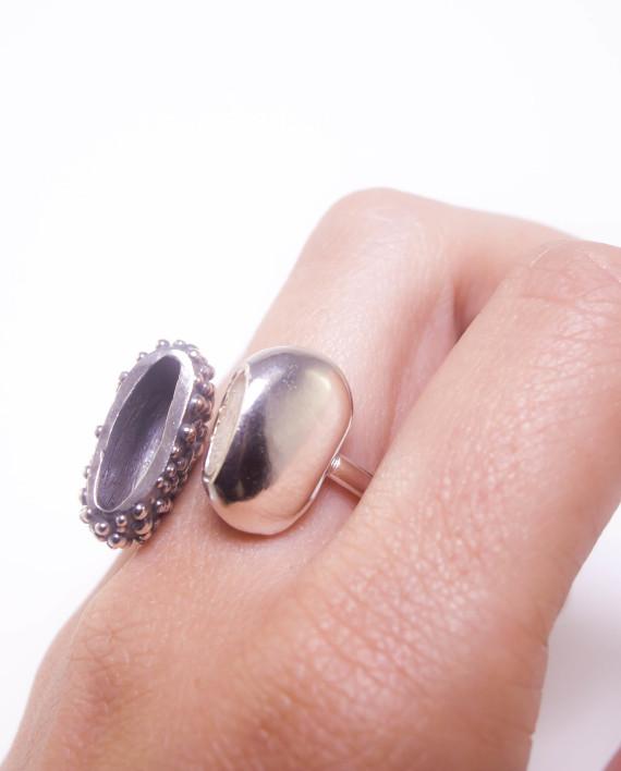 anillo de plata martalonso efimero 97