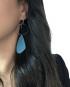 pendiente de plata colorama azul martalonso